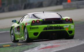 レース, ラベル, 点灯, 追跡する, 背景, フェラーリ