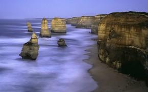 rocas, ola, mar