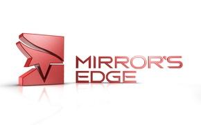 mirror's edge, logo, white background