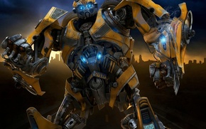 transformers, Bumblebee, robot, yellow, film, Movies, movie