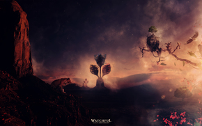 jordy Roelofs, wathcful, aquila, leonessa, albero, fiore, tramonto
