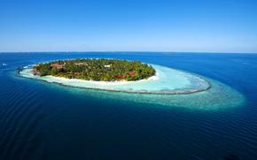 Maldives, paradise island, sea, blue water, recreation