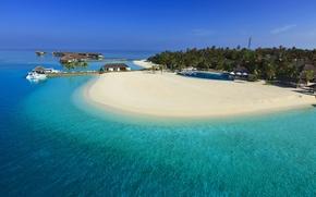 Maldives, paradise island, sea, Blue Water