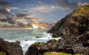 australia, ocean, rocks, Australia, coast