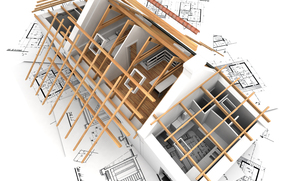 Rendering, wallpaper, home, interior, Room, layout, plan, construction, architecture