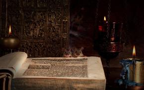 libro, Mouse, candela