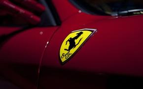 coat of arms, logo, emblem, Ferrari