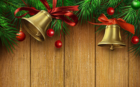 Beautiful, beauty, Bells, Bells, New, Christmas bells, color, cool, gold, gold, Happy New Year, holiday, cute, Merry Christmas, dear, Beautiful, red, tape, New Year