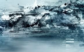 синий, фантастика, абстракт, обоя