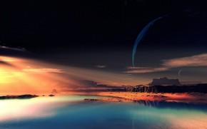obca planeta, fantastyczny krajobraz, Rocks, niebo