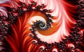 rojo, fractal, patrn