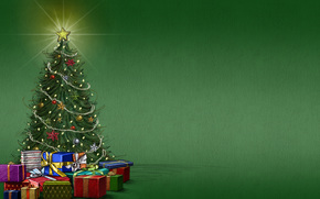 holiday, mood, background, Tree, star, Gifts, New Year