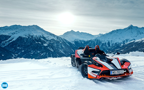 Top Gear, top gear, KTM, X-Bow, Supercar, snow, Mountains, sky, supercars