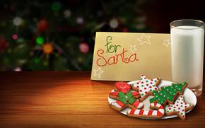 pikny, pikno, Boe Narodzenie, Christmas cookies, joda, kolorowy, kolor, chodny, dla Mikoaja, Happy New Year, wito, adny, Wesoych wit, mleko, dobry, Bardzo, Nowy Rok