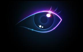 occhio, colore, bagliore