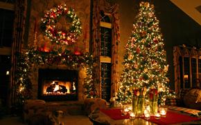 рождество, новый год, елка, Новый год