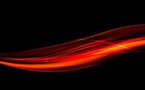 линии, свечение, огонь