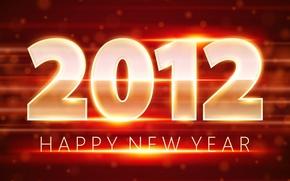 Capodanno, vacanza, arrivo, L'anno del dragone, rosso, arancione, Capodanno