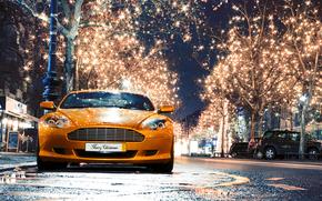 阿斯顿·马丁, 城市, 夜, 灯火, Aston Martin