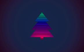 новый год, рождество, елка, минимализм, спектр, Новый год