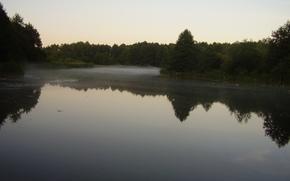 пейзаж, природа, лес, озеро