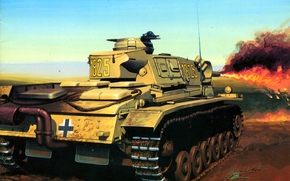 picture, flamethrower, tank, Wehrmacht, Germans, The Second World