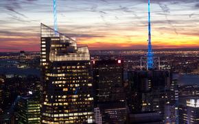город, нью-йорк, манхеттен, сша, банк оф америка