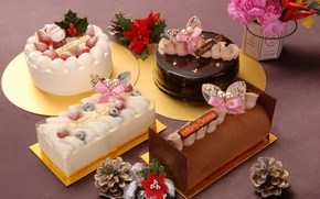 New Year, holiday, Sweets, food, dessert, treat, Rolls, Cakes, Cones, New Year