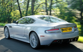 Aston Martin, dBc, Supercar, Vista posterior de la, carretera, velocidad, Aston Martin
