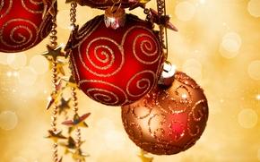 新年, 休日, クリスマスの壁紙, 風景, トイズ, ボール, ビーズ, 輝く, ティンセル, 新年