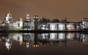 новодевичий, монастырь, вечер
