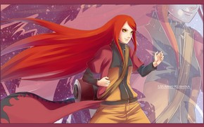 naruto, uzumaki kushina, girl