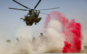 Afghanistan, signal, smoke, dust