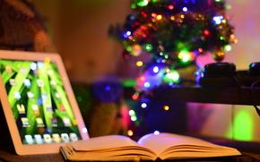 Ano Novo, rvore, sala, oi-tech