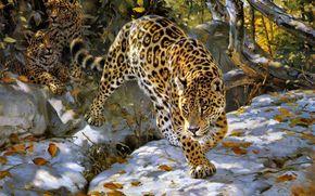 Donald Grant, giaguaro, autunno, Arte