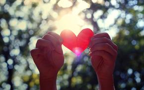 день святого валентина, руки, сердце, валентинка