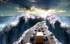 mare, macchinario, strada