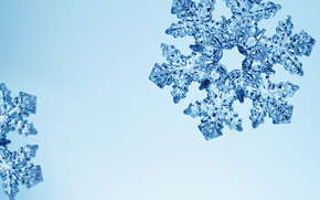 snowflake, crystal, Blue, shine, ice