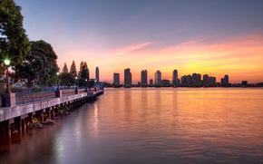 Nueva York, puesta del sol