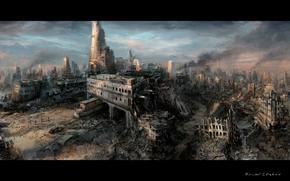 Apocalypse, fumer, ruines
