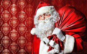 Papai Noel, Papai Noel, saco, barba, Ano Novo