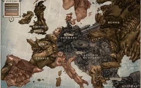 карикатура, карта, европа, год