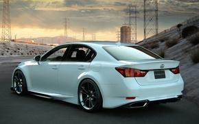Lexus, lexus, white, cars, machinery, Car