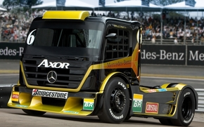 Mercedes, truck, racing car, front, mercedes