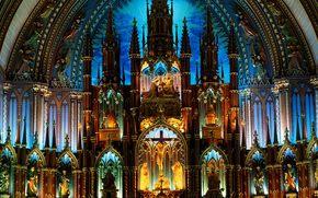 catedral, altar, Gtico