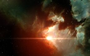 明星, 星云, 空间, 光