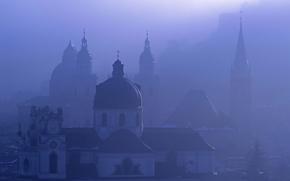 Salisburgo, Austria, nebbia