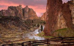 орегон, горы, река