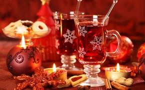 fiesta, Ao Nuevo, Navidad, Velas, t