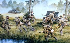 Krieg, Deutschen, Faschisten, Tank, Pistole